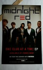 MIDNIGHT RED ONE CLUB AT A TIME 4x6 MUSIC PROMO POSTER FLYER POSTCARD