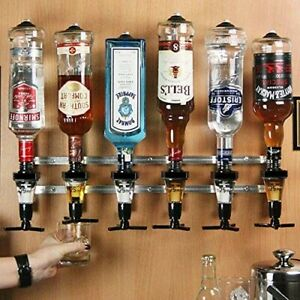 Bottle Stand Wall Mounted Pub Bar Optics Set Wine Beer Dispenser Spirit Drink