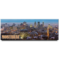 Montreal panoramic fridge magnet Canada travel souvenir
