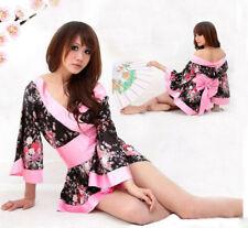 Vestido de noche Sexy Lencería Prendas para dormir Flores Kimono Ropa de Disfraz de Halloween