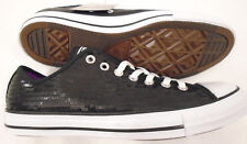 NEW Converse Mens 10 Womens 12 All-Star Chuck Taylor Sequin Shoes Black 136079F