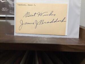 Great James J. Braddock Autograph