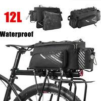 Rockbros Mountain Bike Cycling Rear Seat Rack Trunk Bag Pack Pannier Carrier 12L