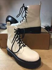 MIA Women's Cortez White Platform Combat Boots Ladies Shoes 7 M US