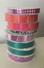 American Crafts Glitter Tape Lot of 8 - 3 Yards Scrapbook Scrapbooking