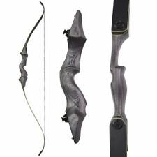 """60"""" Takedown Recurve Bow 25-65lbs Archery Longbow Bamboo Core Limbs Hunting"""