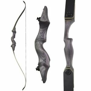"60"" Takedown Recurve Bow 25-65lbs Archery Longbow Bamboo Core Limbs Hunting"