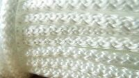 Braided polypropylene poly rope cord yacht boat sailing climbing 8mm WHITE