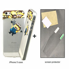 New Premuim Despicable ME TPU case & quality shield For Apple iPhone 5 5S C