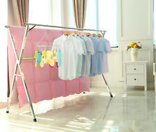 Clothes Drying Rack Line Indoor Outdoor Folding Portable Laundry Heavy Duty