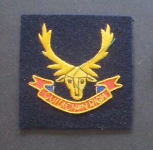 SEAFORTH HIGHLANDERS blazer badge (British Army)