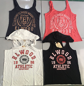 Bulk Lot 4PCS Elwood Ladies Thank Top Singlet Sleeveless Hooded Vest Size S/10