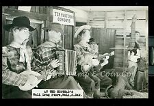1950's RPPC Cowboy Band at Wall Drug Store Wall SD Real Photo Postcard B1891