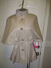 Betsey Johnson Belted Cape S Vintage Taupe NWT