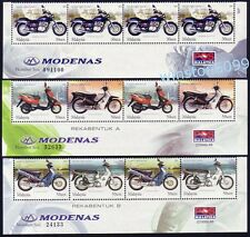 2003 Malaysia Motorcycle & Scooter 12v Stamps (lower blocks) Mint NH