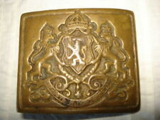 RARE ANTIQUE ROYAL BULGARIAN BRONZE OFFICERS BUCKLE BELT  BUCKLE