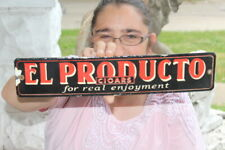 El Producto Cigars Tobacco Gas Oil Porcelain Metal Sign