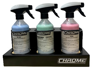 Chrome (NW) Spray Bottle Holder WITH 3 x 500ml BOTTLES INCLUDED Mix and Match