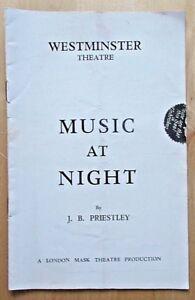 Music At Night programme Westminster Theatre 1939 Robert Harris Stephen Murray