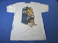 vtg 00s Tee fury Dr Who every doctor funny XL T Shirt Ref09