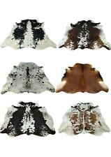 COWHIDE LEATHER RUGS 100% Real TRICOLOR COW HIDE SKIN CARPET AREA 18-35 SQFT