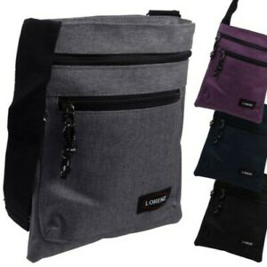 Lorenz Compact Denim Look Sling Cross Body Shoulder Bag Travel
