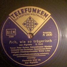 Peter Anders: Ach, wie so trügerisch / Freundlich blick' ich (Rigoletto , Verdi)