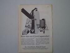 advertising Pubblicità 1959 POLAROID LAND