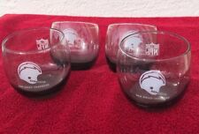 Vintage LA San Diego Chargers Smokey Glass Tumblers (Set Of 4)