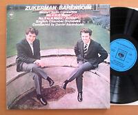 CBS 72859 Zukerman Barenboim Mozart Violin Concerto 4 & 5 English Chamber NM/EX