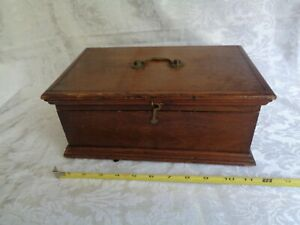 Antique Wooden  Document , Small Tool Box