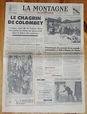JOURNAL LA MONTAGNE 12 NOVEMBRE 1970 MORT GENERAL DE GAULLE GAULLISME COLOMBEY