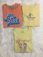 Women's Life Is Good T Shirt Graphic Tee Lot Size Small