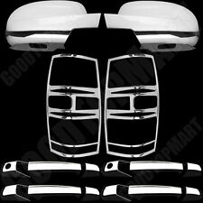 For Chevy Tahoe 07-14 Chrome Cover Set 4 Door Handles PSG KH, Taillights, Mirror