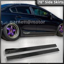 For Honda Civic 10 20 9th 10th Jdm Style Side Skirt Extension Rocker Splitters Fits 2013 Honda Civic Si