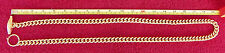 Vintage  39 Inch Gold Cuban Curb Chain Large 7/16 inch Links T Bar Retro 1960s