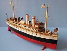 MARKLIN tin ocean liner BOAT windup clockwork ship MÄRKLIN schiffe, bateau