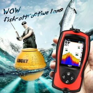 Depth Wireless Sonar Fish Finder Echo Sounders Lure Bite Alarms Deeper DC10-18V