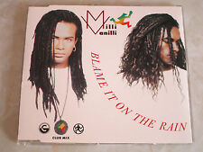 MILLI VANILLI - Blame It On The Rain - RARE 1989 CD Single