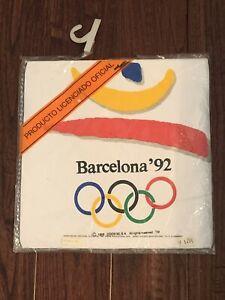 VTG NIP Deadstock Barcelona 1992 Olympic Games White T-Shirt Size X-Large Sealed