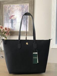 Lauren Ralph Lauren Keaton Extra Large Nylon Tote Black Handbag