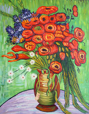 """Van Gogh Replica Oil Painting - Red Roses - size 28""""x36"""""""