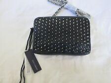 Rebecca Minkoff Flirty Crossbody NAVY silver spikes stud purse bag shoulder NEW