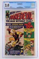Daredevil #1 - CGC 2.0 GD -Marvel 1964- 1st App & ORIGIN Daredevil - 1st Foggy!