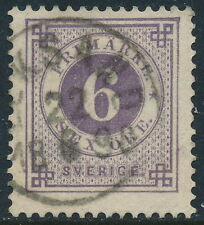 Sweden Scott 44a/Facit 44a, 6ö blue-lilac Ringtyp Posthorn. F-VF used