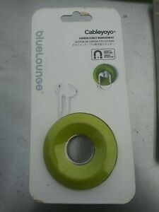 New Bluelounge Cableyoyo  Earbud/Cable Management Wrap Green