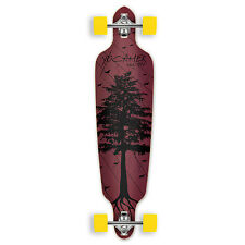 Yocaher Drop Through Longboard Complete - In the Pines : Red