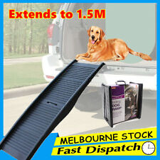 1.5m Foldable Dog Pet Car Ramp Folding Portable Doggie Carry Fold Steps
