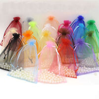100pcs Organza Wedding Xmas Party Favor Gift Candy Bags Jewellery pouches