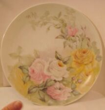 Old Limoge France T & V Large China Platter w/ Rose Flowers Signed M.A.D 12 3/8""